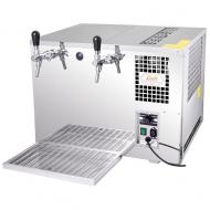 Pivní chlazení AS 45 1 x kohout se řadí mezi vodní stolová zařízení, což znamená, že je vhodné zejména do menších gastronomických provozů, kde s jeho pomocí bez problémů vytočíte 60-90 půllitrů dobře vychlazeného piva během jediné hodiny. Díky svým rozměrům se navíc bez větších obtíží vejde všude tam, kde není dostatek prostoru na klasické podstolové zařízení