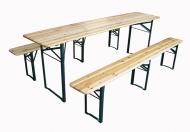 Pivní set 220x50cm PREMIUM - tři nohy na lavici