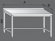 Nerezový pracovní stůl s trnoží.