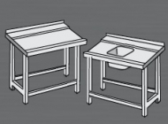 Nerezový stůl k myčce levý.