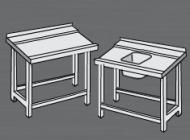 Nerezový stůl k myčce pravý.
