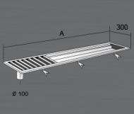 Nerezový podlahový rošt KRPR s výpustí a sifonem