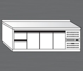 Nerezový chladící stůl PACHS 260-2