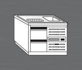 Nerezový chladící výčepní pult PAVP 100 CH 2
