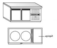 Nerezový chladící stůl na KEG sudy PACHBS 2