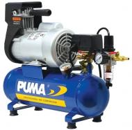 Kompresor PUMA s automatickým chodem je přenosný, lehký a velmi tichý. Patří do skupiny bezolejových kompresorů, které se smí používat v potravinářství. Vyniká svou dlouhou životností.