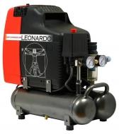 Kompresor LEONARDO s automatickým chodem je přenosný, lehký a tichý. Patří do skupiny bezolejových kompresorů, které se smí používat v potravinářství. Vynikajá svou dlouhou životností a vysokým výkonem.