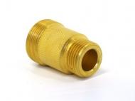 Adaptér na sanitaci výčepního kohoutu - používaného na našich chlazeních. Adaptér lze napojit na chlazení místo výčepního kohoutu a tak propojit výčepní zařízení s výčepním stojanem. Závit 5/8