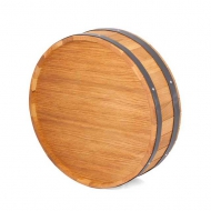 Výčepní stojan dno sudu kruh 40cm. Uvedená cena je bez kohoutů. Možno osadit libovolným počtem kohoutů.