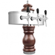 Výčepní stojan BAROCO 3x kohout - chrom. Možný výběr dekoru dřeva stojanu viz. fotogalerie. Vybraný dekor uveďte do poznámky v objednávce.