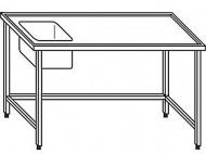 Výčepní stůl 180x70x90cm 1x dřez 40x34x25cm vlevo.