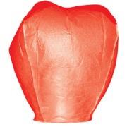Lampion štěstí červené barvy. Rozměry: 40 x 60 x 106cm (40cm v nejužším místě, 60cm v nejširším místě, 106cm výška).