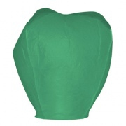 Lampion štěstí zelené barvy. Rozměry: 40 x 60 x 106cm (40cm v nejužším místě, 60cm v nejširším místě, 106cm výška).