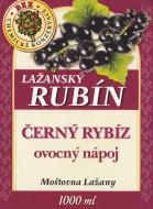 Ovocný nápoj - černý rybíz 1l (obsah ovocné složky nejméně 20%). Tento nápoj doplňuje řadu kvalitních výrobků značky Lažanský RUBÍN. Zaujme Vás jistě svou osvěžující chutí.