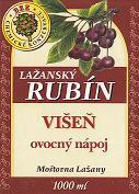 Ovocný nápoj - višeň 1l (obsah ovocné složky nejméně 25%). Tento nápoj doplňuje řadu kvalitních výrobků značky Lažanský RUBÍN. Zaujme Vás jistě svou osvěžující chutí.