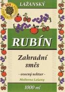 Ovocný nektar - zahradní směs 1l (obsah ovocné složky nejméně 40%). Tento nápoj doplňuje řadu kvalitních výrobků značky Lažanský RUBÍN. Zaujme Vás jistě svou osvěžující chutí.