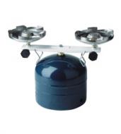 Plynový varič dvojhořákový PICAMP. Campingové plynové vařiče na propan butan jsou určeny pro turistické účely k přípravě pokrmů. Jsou připojeny přímo k 2 kg propan butanové láhvi. (tato láhev není součástí dodávky).