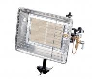 Plynový teplomet BRI s keramickým hořákem je infračervený teplomet pro pracovní prostředí. Vhodné použití pro vytápění pracovních prostor. Nastavitelný víceúčelový držák. Bezpečnostní pojistka. Dvoupolohový regulátor výkonu. Dodává se včetně regulátoru tlaku a hadice.