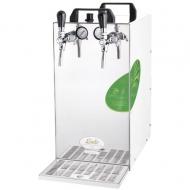 KONTAKT 115/R Green Line je výkonné a přitom ekologické výčepní zařízení, s jehož pomocí nachladíte během jediné hodiny až 140 litrů piva. Stejně jako ostatní suchá chlazení je i tento výrobek vhodný na venkovní akce, kde se těžko shání voda, a je připravený k použití téměř okamžitě po zapojení.