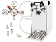 Pokud dáváte při čepování piva přednost CO2 před tlakováním vzduchem, pak je pro vás ideální řešení pořídit si chladicí zařízení bez zabudovaného kompresoru. Takovým zařízením je i Kontakt 40 - pivní chlazení s průběžným výkonem 35-40 l/hod., minimalistickým designem a dlouhou životností.
