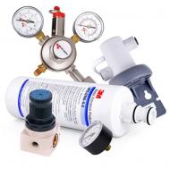 Příslušenství pro sodobary SODA AS - 45, SODA ELEGANCE a SODA PYGMY obsahuje všechny potřebné hadice, redukční ventily, vodní filtr atd..
