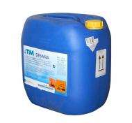 Velice kvalitní sanitační přípravek TM Desana 35kg s bioindikátorem. Bioindikátor mění v průběhu sanitace svoji barvu. Bezchlórový sanitační přípravek - sanitace probíhá na bázi aktivního kyslíku. Přípravek je ve formě prášku.