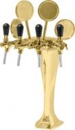 Výčepní stojan Kobbra 4 zlato.