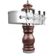 Výčepní stojan BAROCO 4x kohout - chrom. Možný výběr dekoru dřeva stojanu viz. fotogalerie. Vybraný dekor uveďte do poznámky v objednávce.