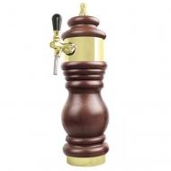 Výčepní stojan BAROCO 1x kohout - zlato. Možný výběr dekoru dřeva stojanu viz. fotogalerie. Vybraný dekor uveďte do poznámky v objednávce.