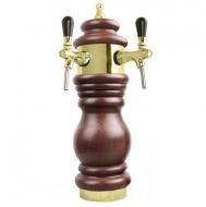 Výčepní stojan BAROCO 2x kohout - zlato. Možný výběr dekoru dřeva stojanu viz. fotogalerie. Vybraný dekor uveďte do poznámky v objednávce.