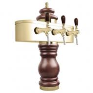 Výčepní stojan BAROCO 3x kohout - zlato. Možný výběr dekoru dřeva stojanu viz. fotogalerie. Vybraný dekor uveďte do poznámky v objednávce.