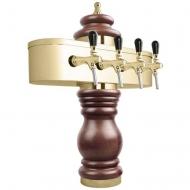 Výčepní stojan BAROCO 4x kohout - zlato. Možný výběr dekoru dřeva stojanu viz. fotogalerie. Vybraný dekor uveďte do poznámky v objednávce.