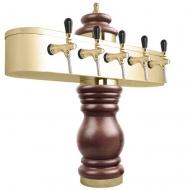 Výčepní stojan BAROCO 5x kohout - zlato. Možný výběr dekoru dřeva stojanu viz. fotogalerie. Vybraný dekor uveďte do poznámky v objednávce.