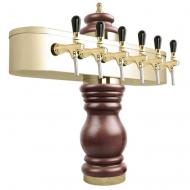 Výčepní stojan BAROCO 6x kohout - zlato. Možný výběr dekoru dřeva stojanu viz. fotogalerie. Vybraný dekor uveďte do poznámky v objednávce.