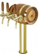 Výčepní stojan LINDR SOUDEK 3x kohout - zlato.