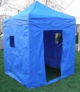 Nůžkový stan 2x2m DELUXE modrý s boky.