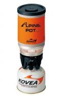 Plynový vařič ALPINE POT. Varianta na kartuše s ventilem a závitem (KP02006 a KP02007).