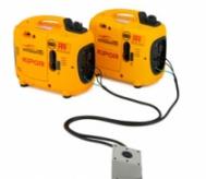 Propojovací set IG 1000P - IG 2000P jednozásuvkový umožňuje propojení dvou strojů s paralelním výstupem.