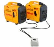 Propojovací set IG 1000P - IG 2600P dvouzásuvkový umožňuje propojení dvou strojů (typ IG 1000P, IG 2000P, IG 2600P) s paralelním výstupem.