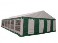 STANDARD 5x10 m zeleno-bílý je vysoce odolný a přitom esteticky povedený párty stan, který se hodí na pořádání venkovních akcí nejrůznějšího druhu.