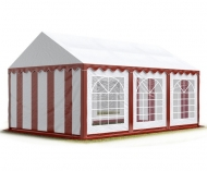 Párty stan PREMIUM 3x6 m červeno-bílý je nejmenší variantou prémiových zahradních stanů a hodí se hlavně na malé soukromé akce a pro sezónní využití na zahradách rodinných domků.