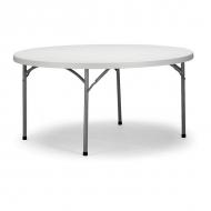 Cateringový skládací stůl - průměr 122 cm poskytuje odkládací plochu střední velikosti, kterou dobře využijete nejen při nárazových akcích, ale i jako stálé vybavení.