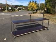 Mobilní výčepní stůl s barem 280x90/125x60cm