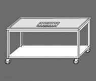Nerezový výčepní stůl pojízdný.