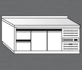 Nerezový chladící stůl PACHS 200-2