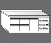Nerezový chladící stůl PACHS 200-3