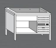 Nerezový stůl s chladící vanou 3x GN 1/1