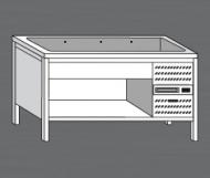 Nerezový stůl s chladící vanou 4x GN 1/1.