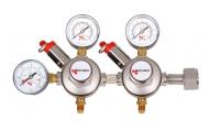 Možnost regulace 2 nezávislých tlaků. Redukční ventil na klasické lahve s CO2. Připojovací závit na lahev G3/4