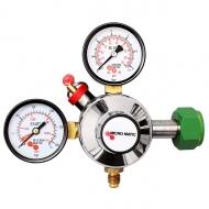 Redukční ventil MM N2 1 st. slouží k úpravě hodnoty tlaku potravinářského plynu N2, získávaného z tlakových lahví.